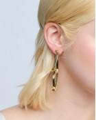 OVAL LOOP CRYSTAL EARRINGS