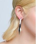 OVAL LOOP PEARL EARRINGS